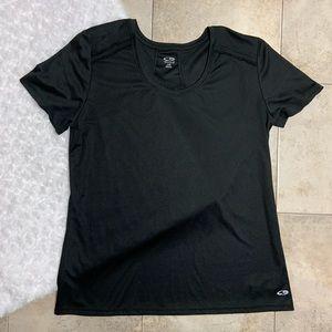 Champion Black Moisture Wicking Activewear TShirt